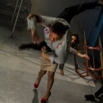 Getting thrown by Tiffany Shepis (The Night Watchmen)